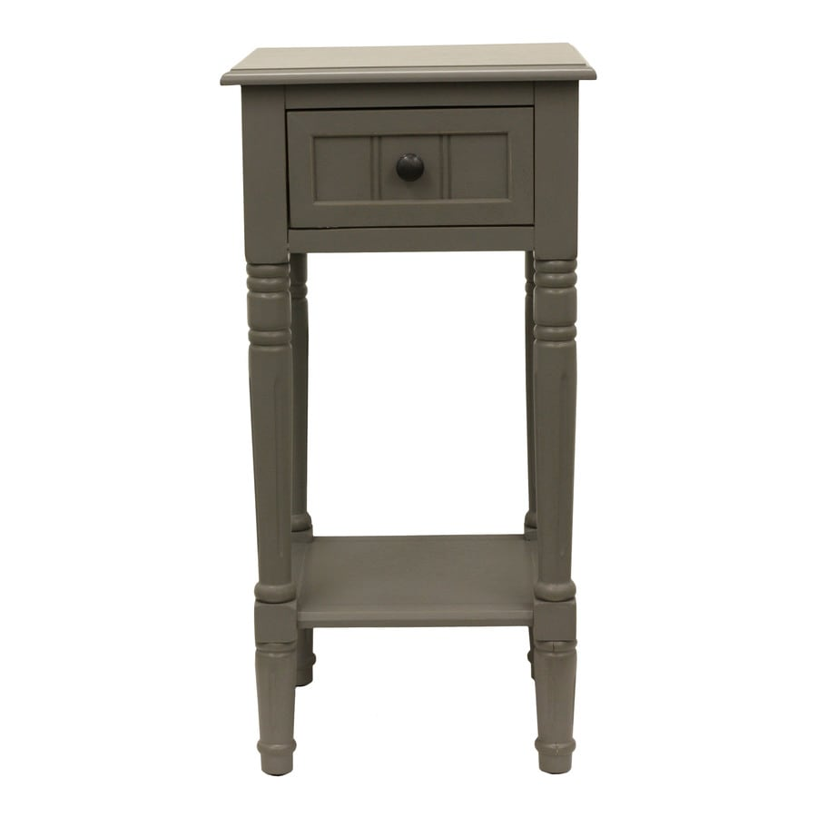 Decor Therapy Eased Edge Grey Oak End Table