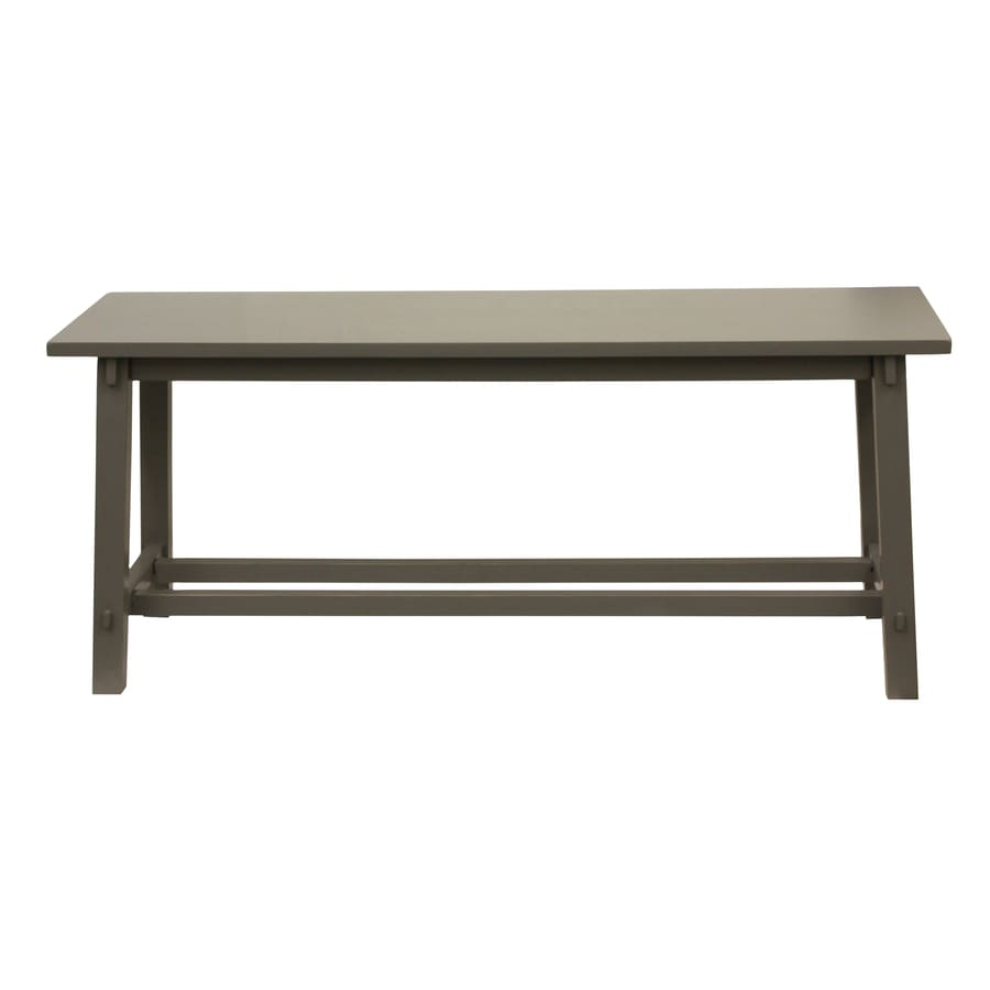Decor Therapy Traditional Eased Edge Grey Accent Bench