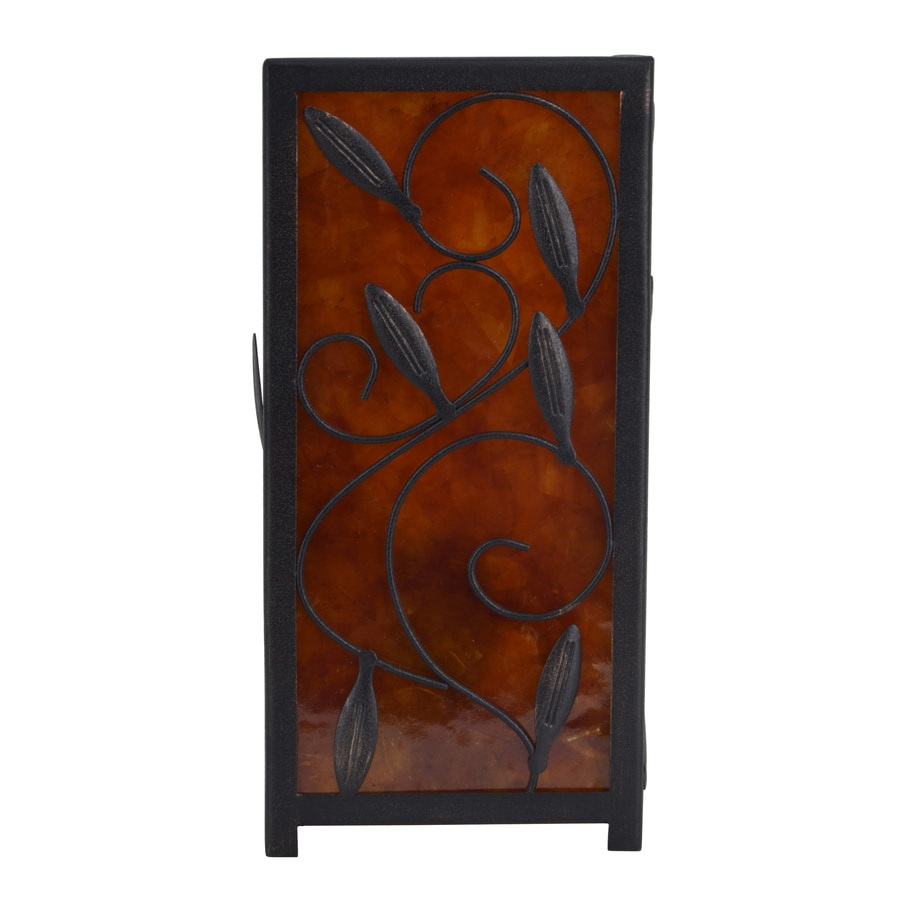 Decor Therapy 10.5-in Bronze Indoor Table Lamp with Shade