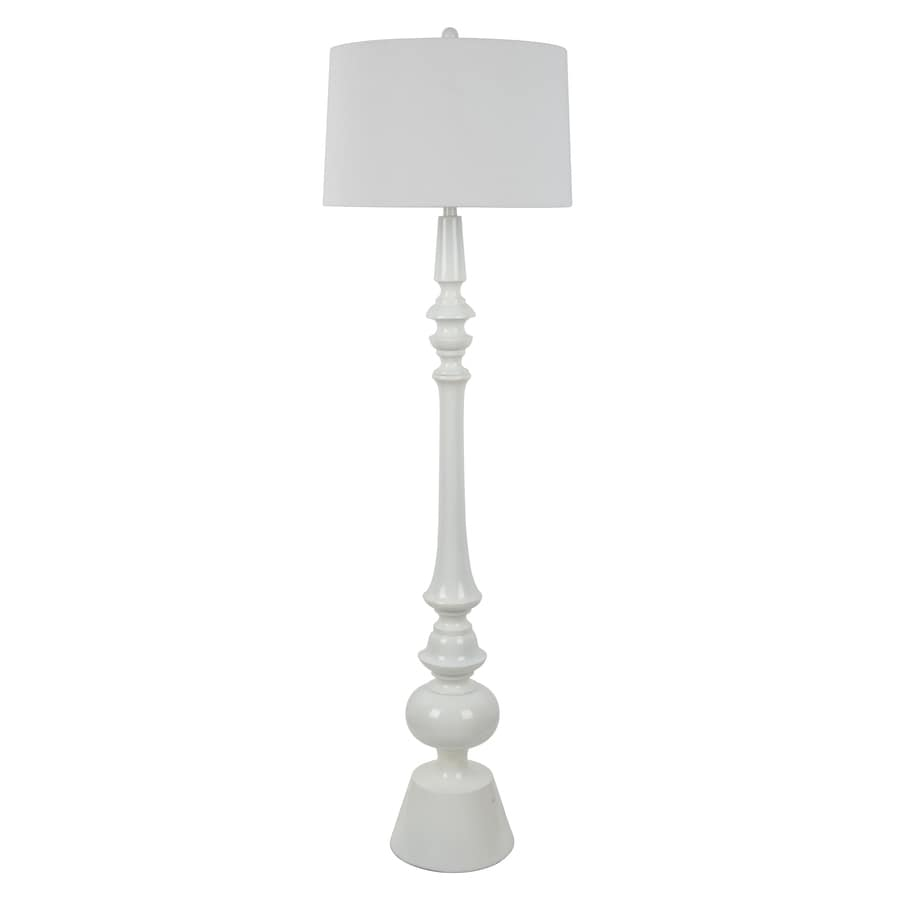 Decor Therapy 63-in White 3-Way Floor Lamp with Fabric Shade