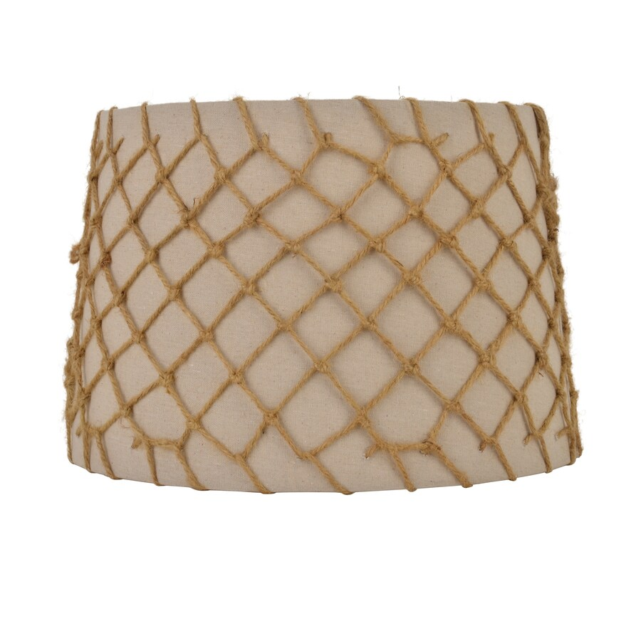 Decor Therapy 10-in x 15-in Natural and Jute Fabric Drum Lamp Shade