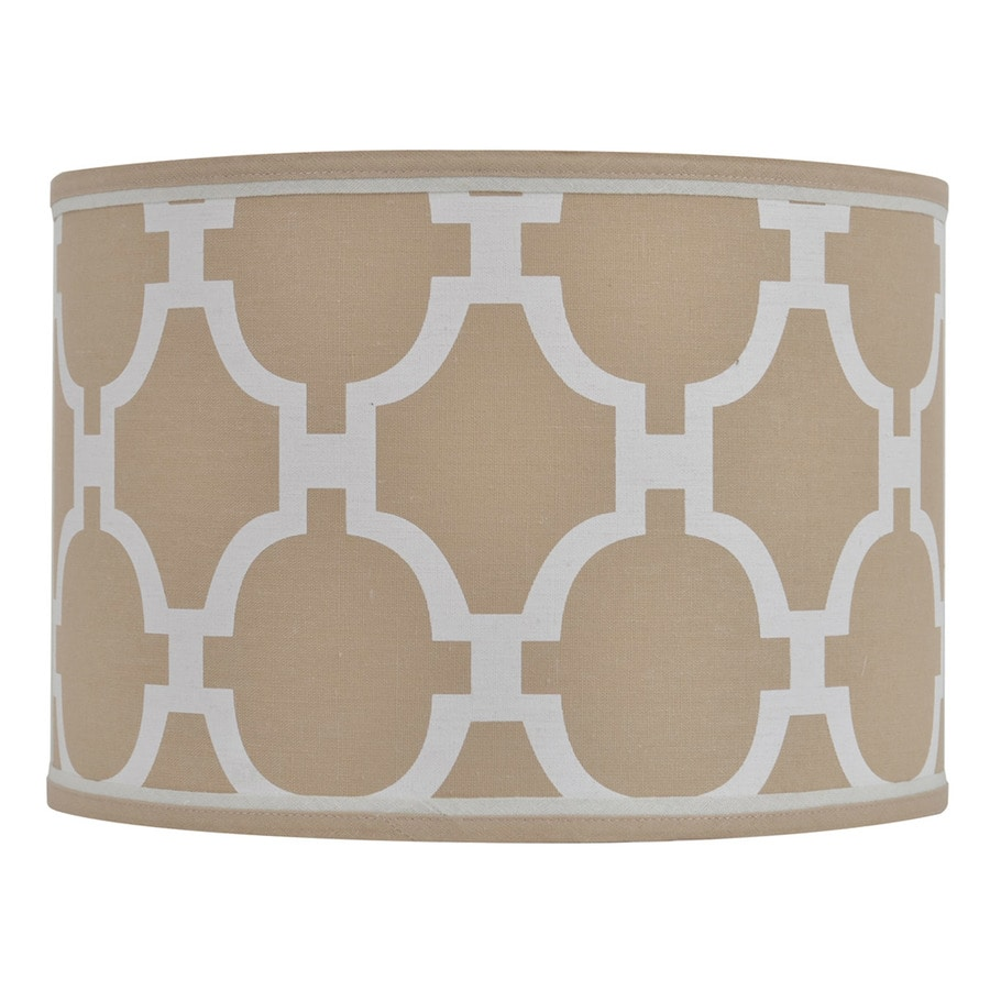 Decor Therapy 9-in x 13-in Taupe Fabric Drum Lamp Shade