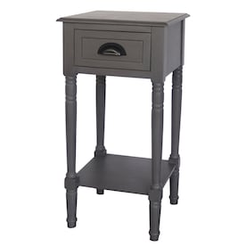 Gray Wash Wood End Table