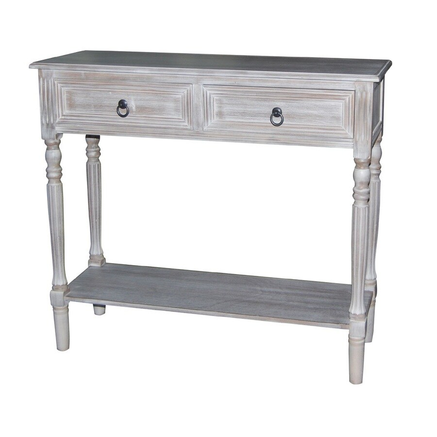 Winter Melody Wood Veneer Casual Console Table