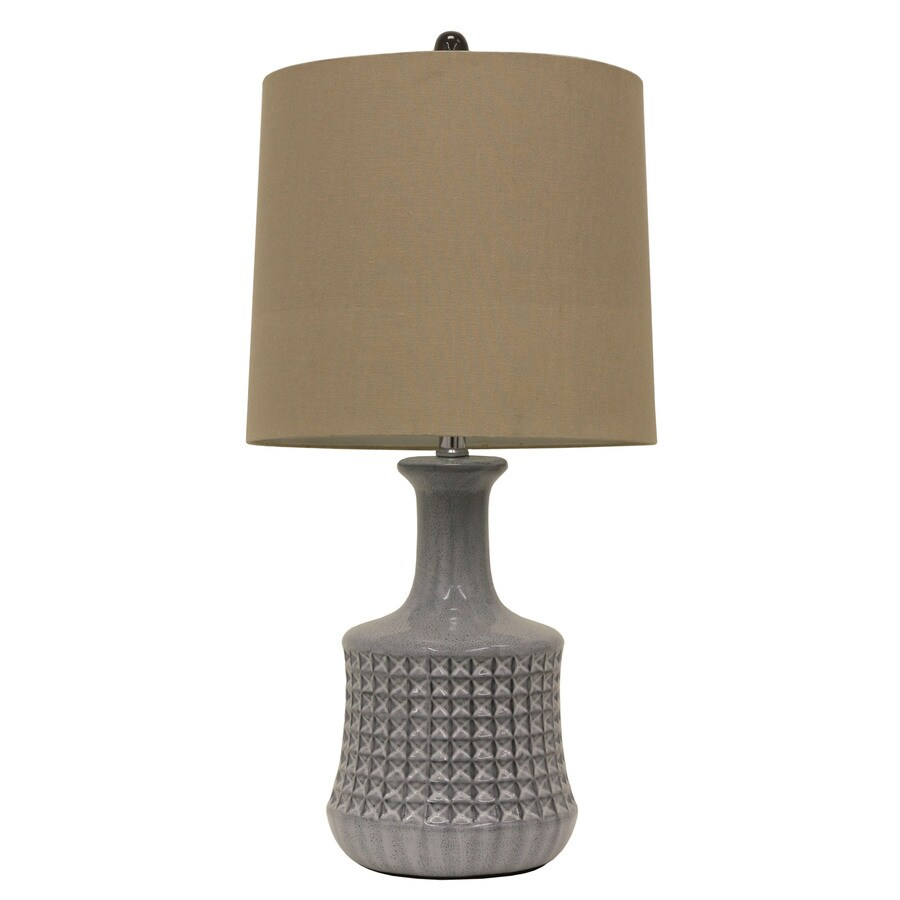 Decor Therapy 26-in 3-Way Switch Quarry Indoor Table Lamp with Fabric Shade