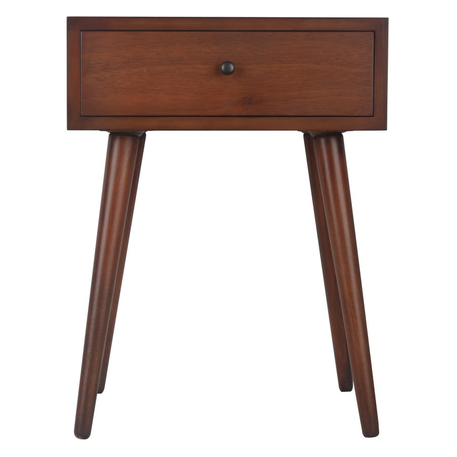 Decor Therapy Light Walnut Oak End Table