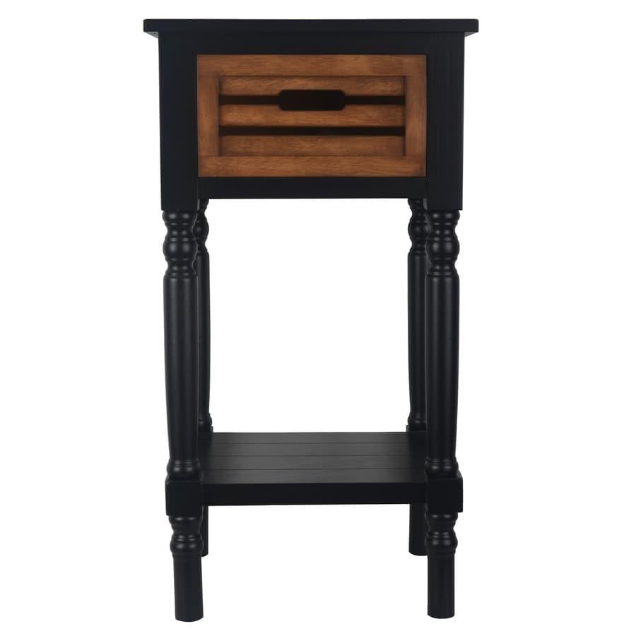 Decor Therapy Black Honeynut Oak End Table