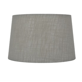 Allen + Roth 10 In X 15 In Gray Fabric Drum Lamp Shade