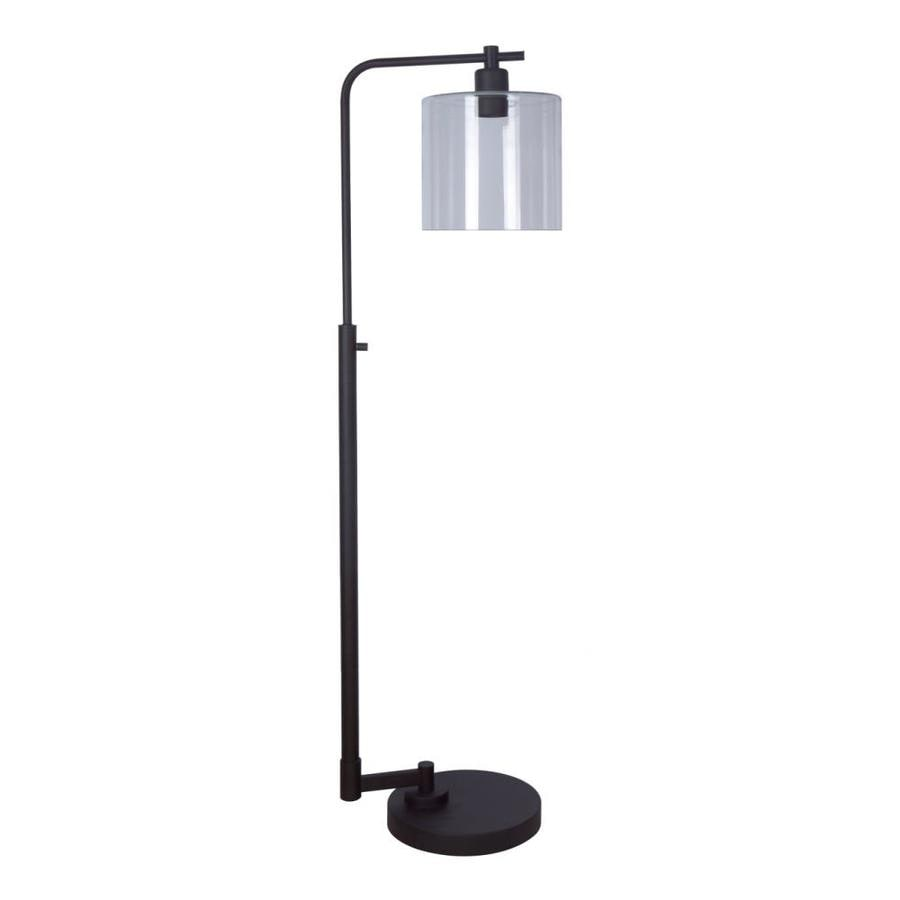 Superieur Allen + Roth Tapsley 57.5 In Bronze Downbridge Floor Lamp With Glass Shade