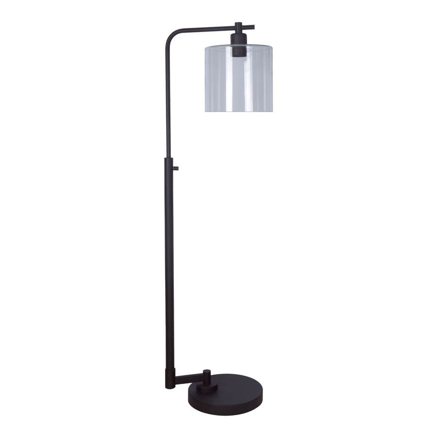 Shop allen roth tapsley 575 in bronze downbridge floor lamp with allen roth tapsley 575 in bronze downbridge floor lamp with glass shade aloadofball
