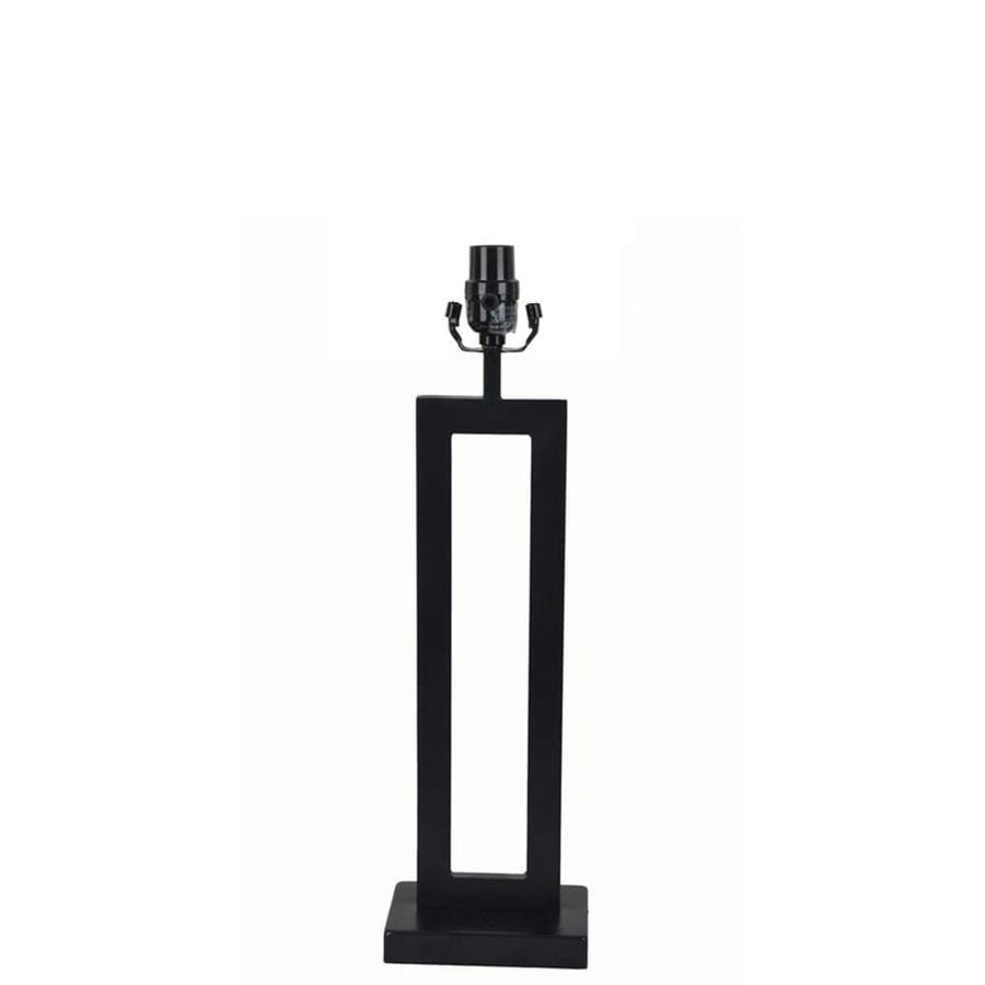 allen + roth 21-in Black Electrical Outlet 3-Way Metal Lamp Base
