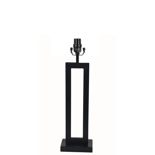 Allen Roth 21 In Black Electrical Outlet 3 Way Metal Lamp Base At Lowes Com