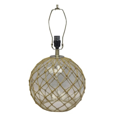 Allen Roth 15 5 In Clear Electrical Outlet Glass Lamp Base At Lowes Com