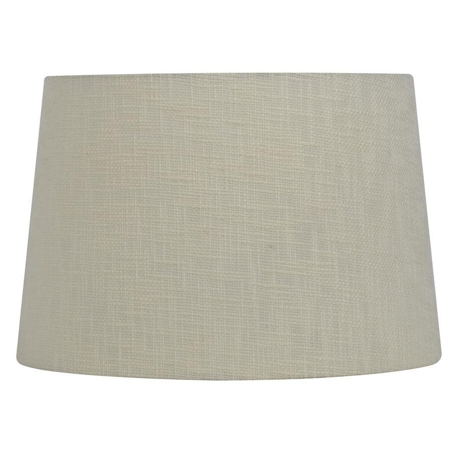 Shop allen roth 10 in x 15 in cream fabric drum lamp shade at allen roth 10 in x 15 in cream fabric drum lamp shade aloadofball Image collections
