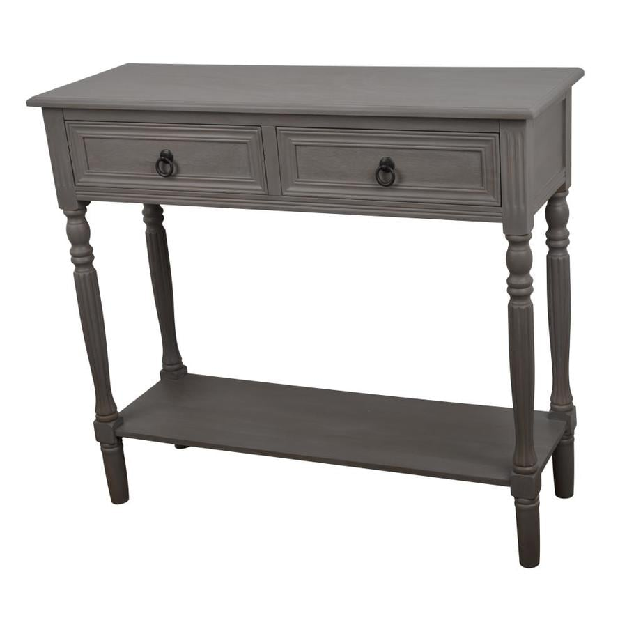 Gray Composite Casual Console Table