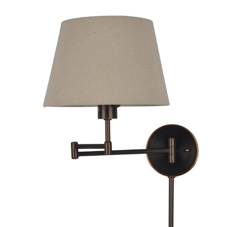 J Hunt Home 11 In W 1 Light Bronze Swing Arm Plug