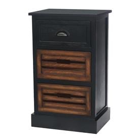 Ebony Wood Veneer Casual End Table
