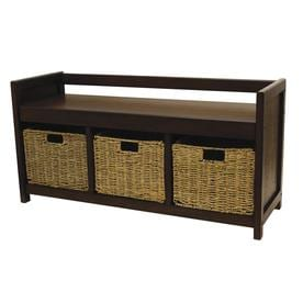 Etonnant Casual Walnut Storage Bench