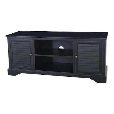 Ebony Transitional Wood Veneers Media Cabinet At Lowes Com