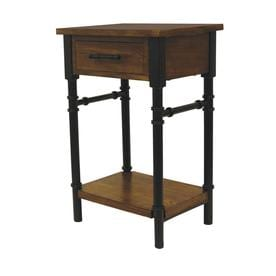 walnut composite industrial end table - Lowes End Tables
