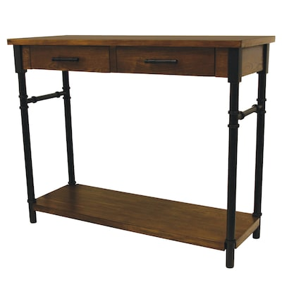 Superb Walnut Industrial Console Table At Lowes Com Machost Co Dining Chair Design Ideas Machostcouk