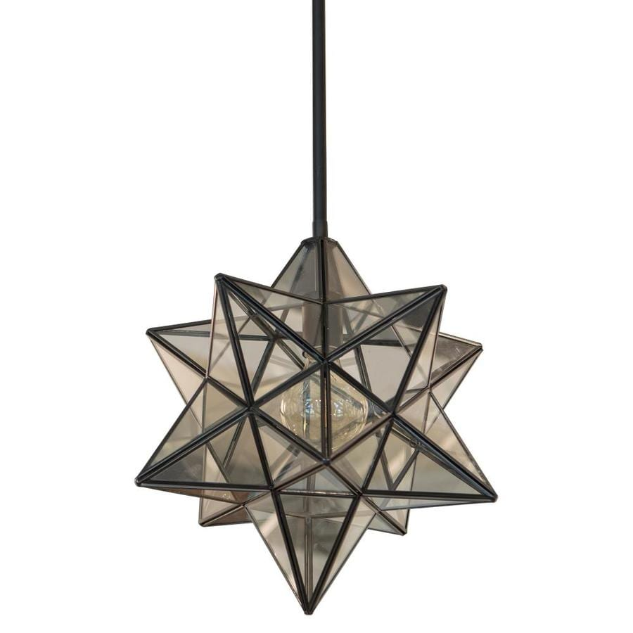 Decor therapy star shaped one light pendant at lowes com
