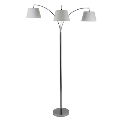 Decor Therapy Ashbury 75 In Chrome Multi Head Floor Lamp At
