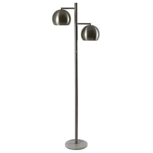 Decor Therapy Morris 62 In Brushed Steel And White Marble Multi Head Floor Lamp At Lowes Com