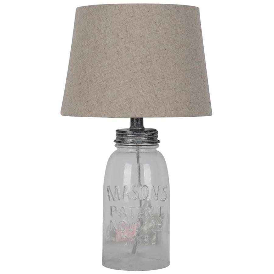 J. Hunt Home Glass Jar Table Lamp at Lowes.com