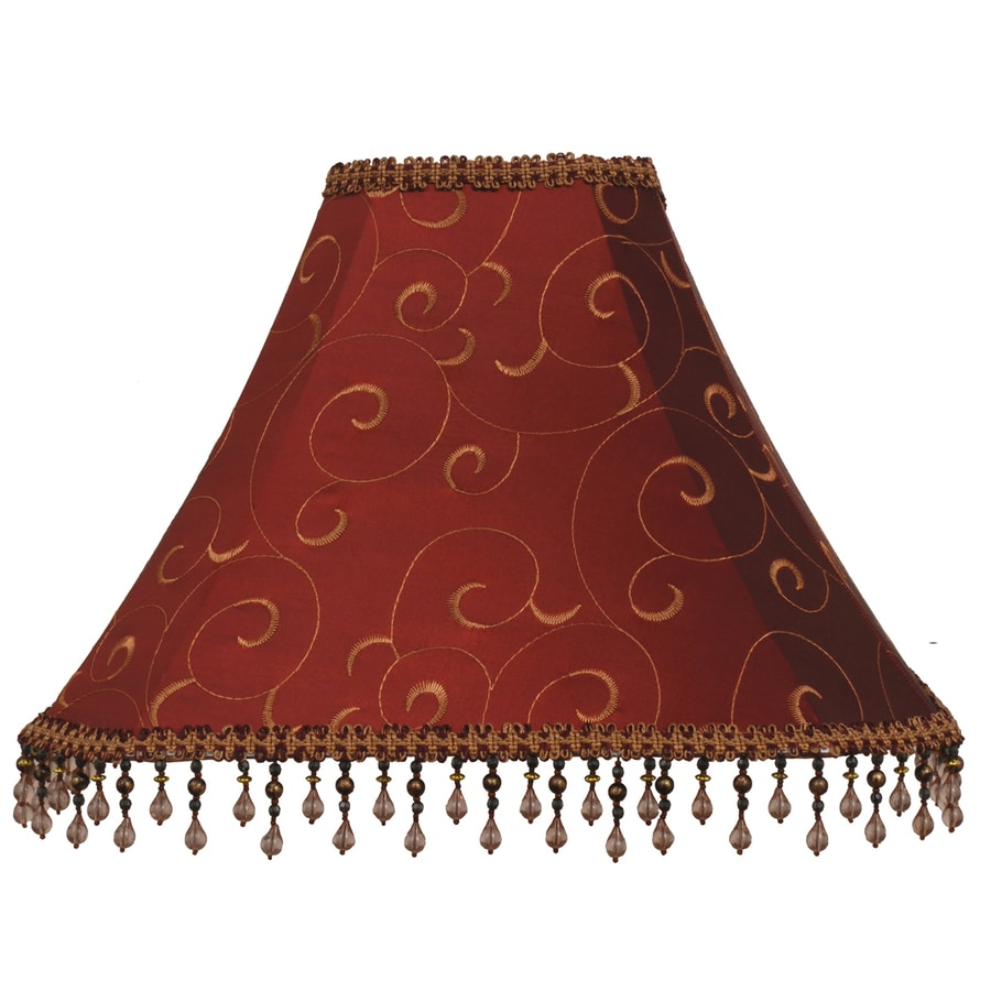 Shop lamp shades at lowes allen roth 12 in x 16 in red fabric bell lamp shade audiocablefo