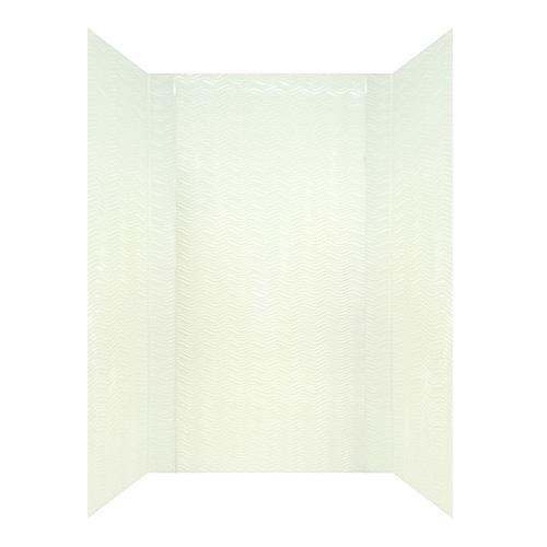 MirroFlex Wavation White Fiberglass/Plastic Composite ...