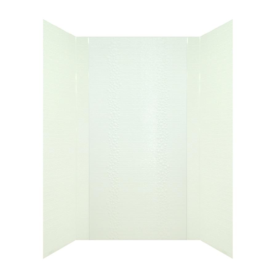 MirroFlex Cascade White Fiberglass/Plastic Composite Bathtub Wall Surround (Common: 40-in x 60-in; Actual: 96-in x 42-in x 60-in)