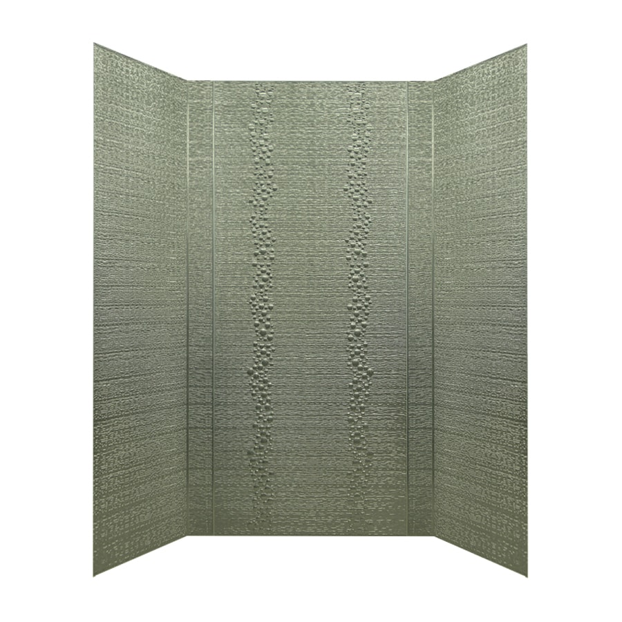 MirroFlex Cascade Galvanized Fiberglass/Plastic Composite Bathtub Wall Surround (Common: 40-in x 60-in; Actual: 96-in x 42-in x 60-in)