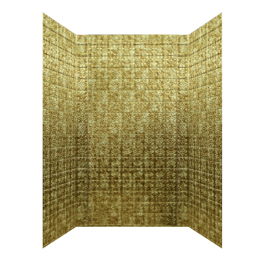 MirroFlex Savannah Bermuda Bronze Fiberglass/Plastic Composite Bathtub Wall Surround (Common: 40-in x 60-in; Actual: 96-in x 42-in x 60-in)