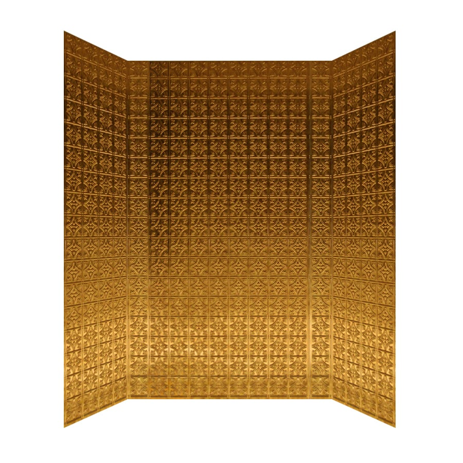 MirroFlex Savannah Antique Bronze Fiberglass and Plastic Composite Bathtub Wall Surround (Common: 40-in x 60-in; Actual: 96-in x 40-in x 60-in)