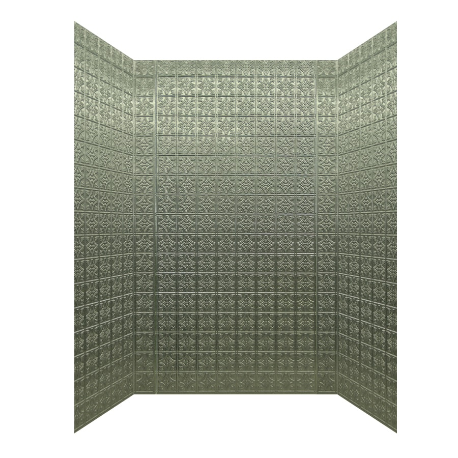 MirroFlex Savannah Galvanized Fiberglass/Plastic Composite Bathtub Wall Surround (Common: 40-in x 60-in; Actual: 96-in x 42-in x 60-in)