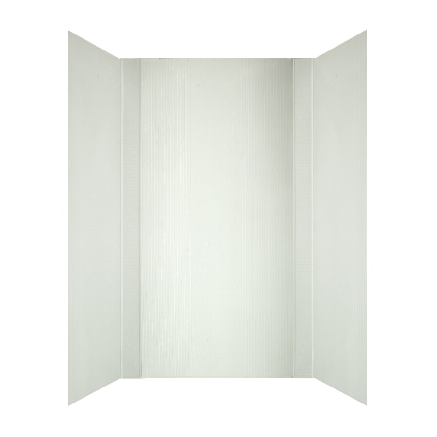 MirroFlex Crossroads In White White Fiberglass/Plastic Composite Bathtub Wall Surround (Common: 40-in x 60-in; Actual: 96-in x 42-in x 60-in)