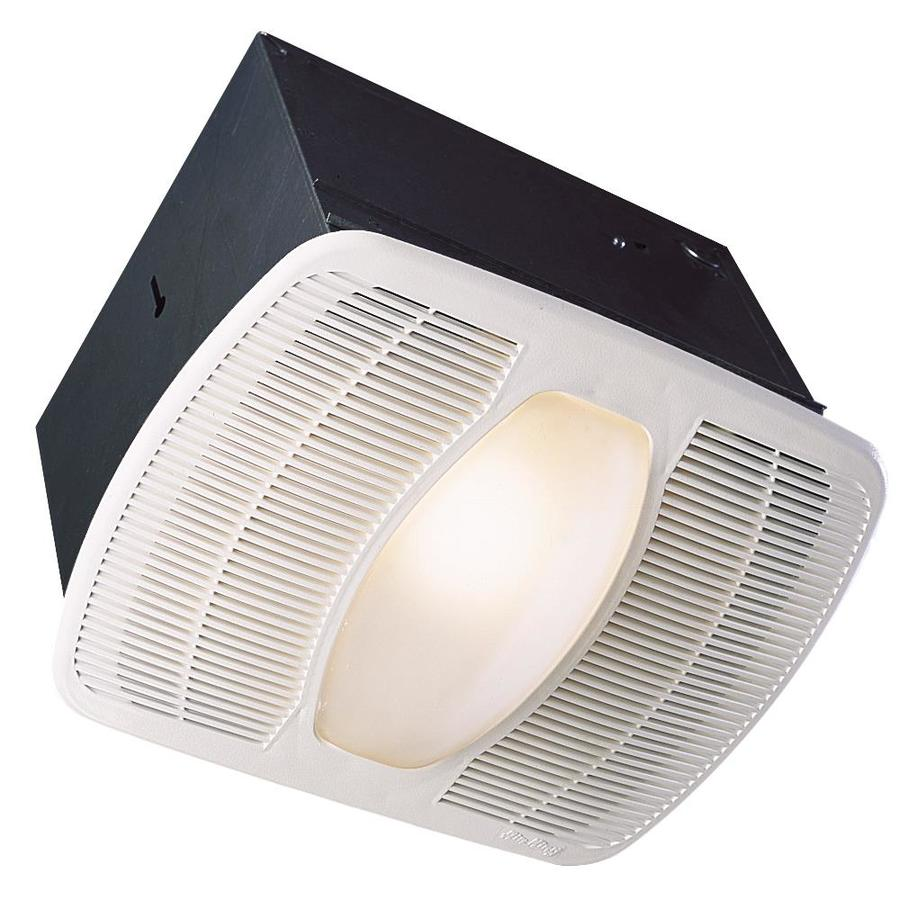 Shop Air King 25 Sone 100 Cfm White Bathroom Fan At Wiring On Without Ceiling Mount Light Moreover Install