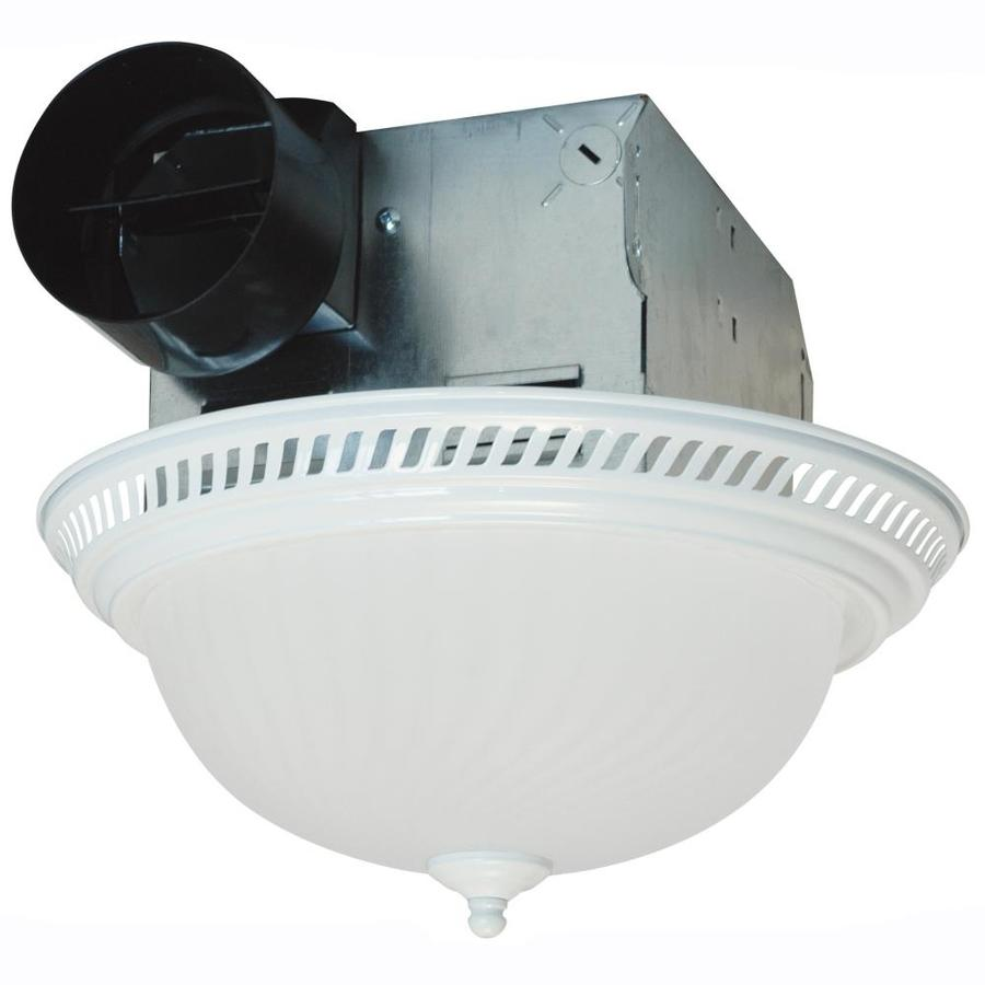 Air King 4-Sone 70-CFM White Bathroom Fan with Light