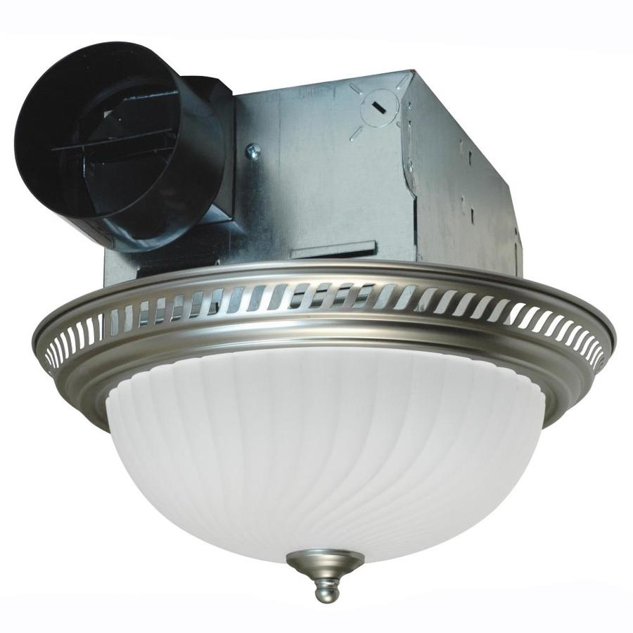 lowes bathroom fan light combo shop air king 4 sone 70 cfm nickel bathroom fan at lowes 23714