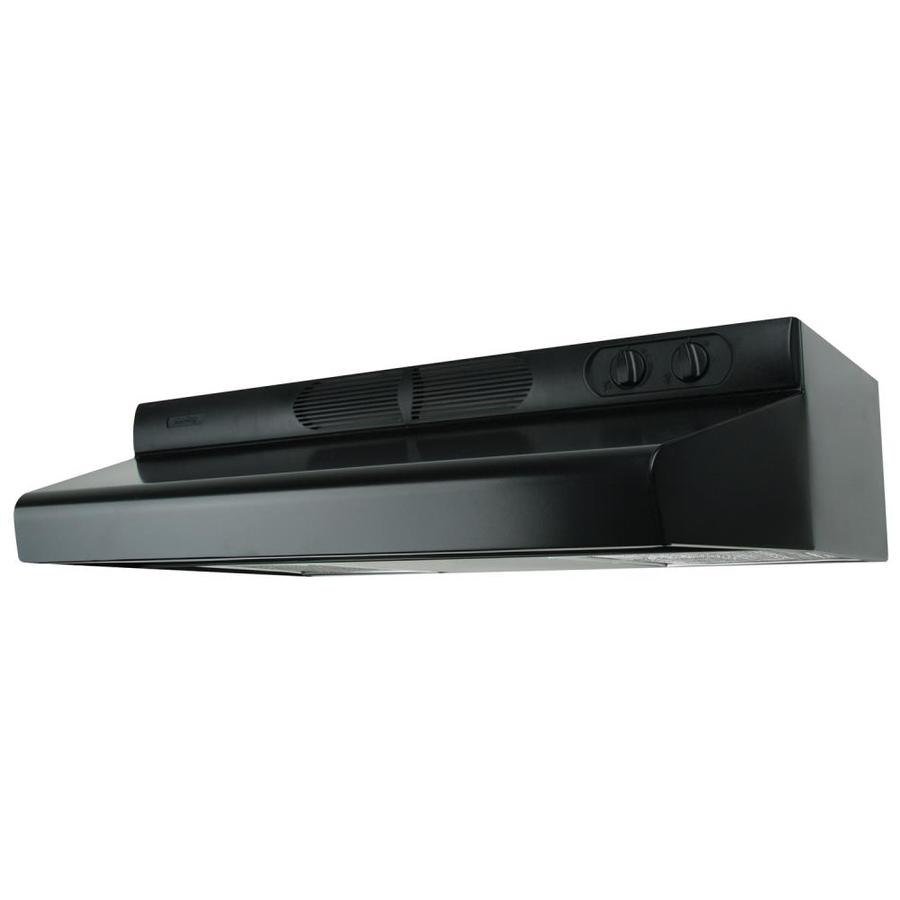 Air King Undercabinet Range Hood (Black) (Common: 24-in; Actual 24-in)