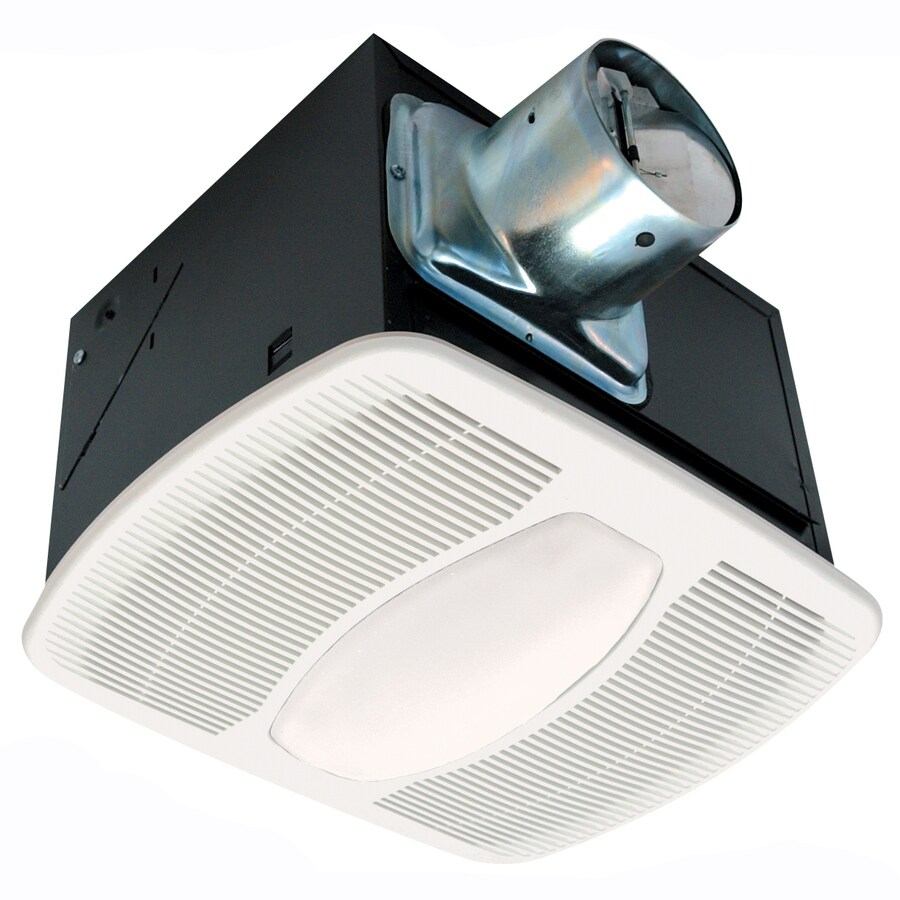 Air King 0.3-Sone 50-CFM White Bathroom Fan with Light ENERGY STAR