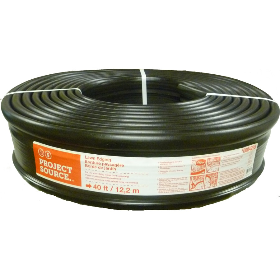 Project Source 40-ft Black Plastic Landscape Edging Roll