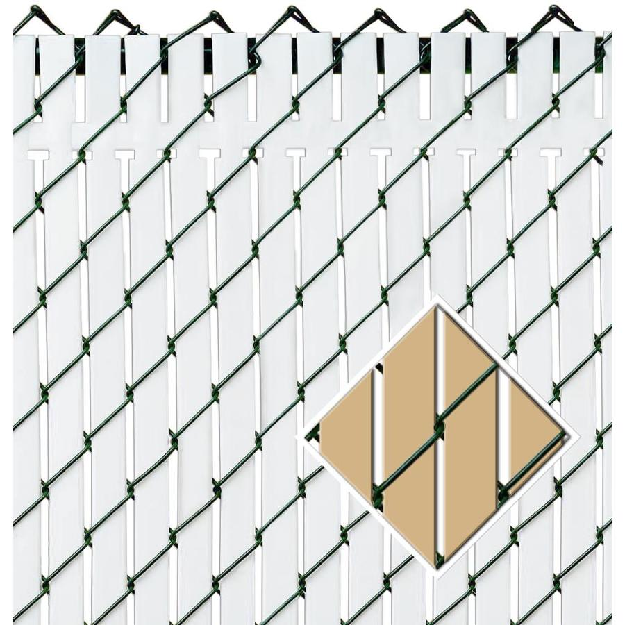 Pexco (Fits Common Fence Height: 4-ft; Actual: 0.09-ft x 3.83-ft) Top Locking slats 82-Pack Beige Chain-link Fence Privacy Slat