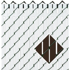 Pexco Brown Chain Link Fence Privacy Screen