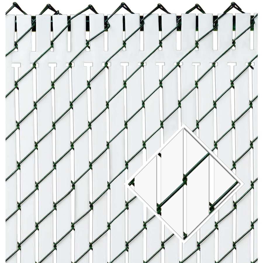 Pexco (Fits Common Fence Height: 4-Ft; Actual: 0.09-ft x 3.83 Feet) Top Locking 82-Pack White Chain-Link Fence Privacy Slat