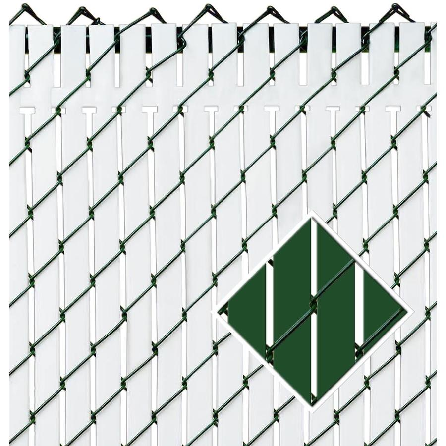 Pexco (Fits Common Fence Height: 8-ft; Actual: 94-ft x 8-ft) Top Locking Slats 82-Pack Green Chain-link Fence Privacy Slat