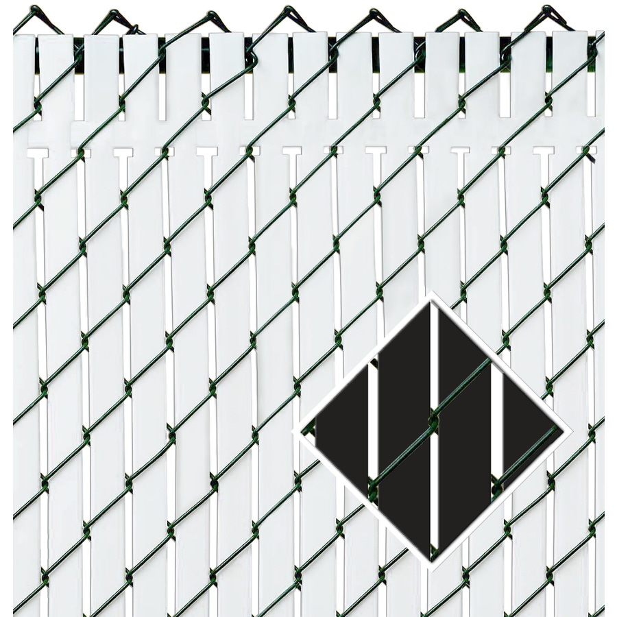 Pexco (Fits Common Fence Height: 8-ft; Actual: 94-ft x 8-ft) TOP LOCKING 82-Pack Black Chain-link Fence Privacy Slat