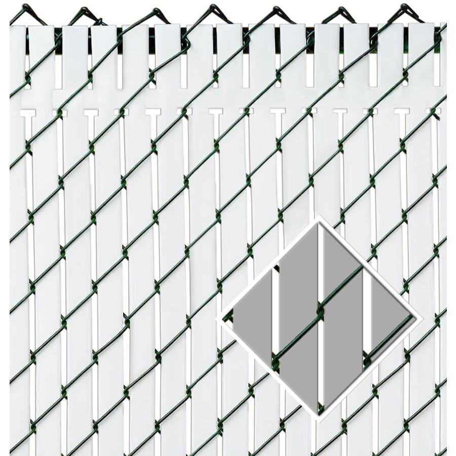Pexco (Fits Common Fence Height: 4-Ft; Actual: 0.09-ft x 3.83 Feet) Top Locking 82-Pack Gray Chain-Link Fence Privacy Slat