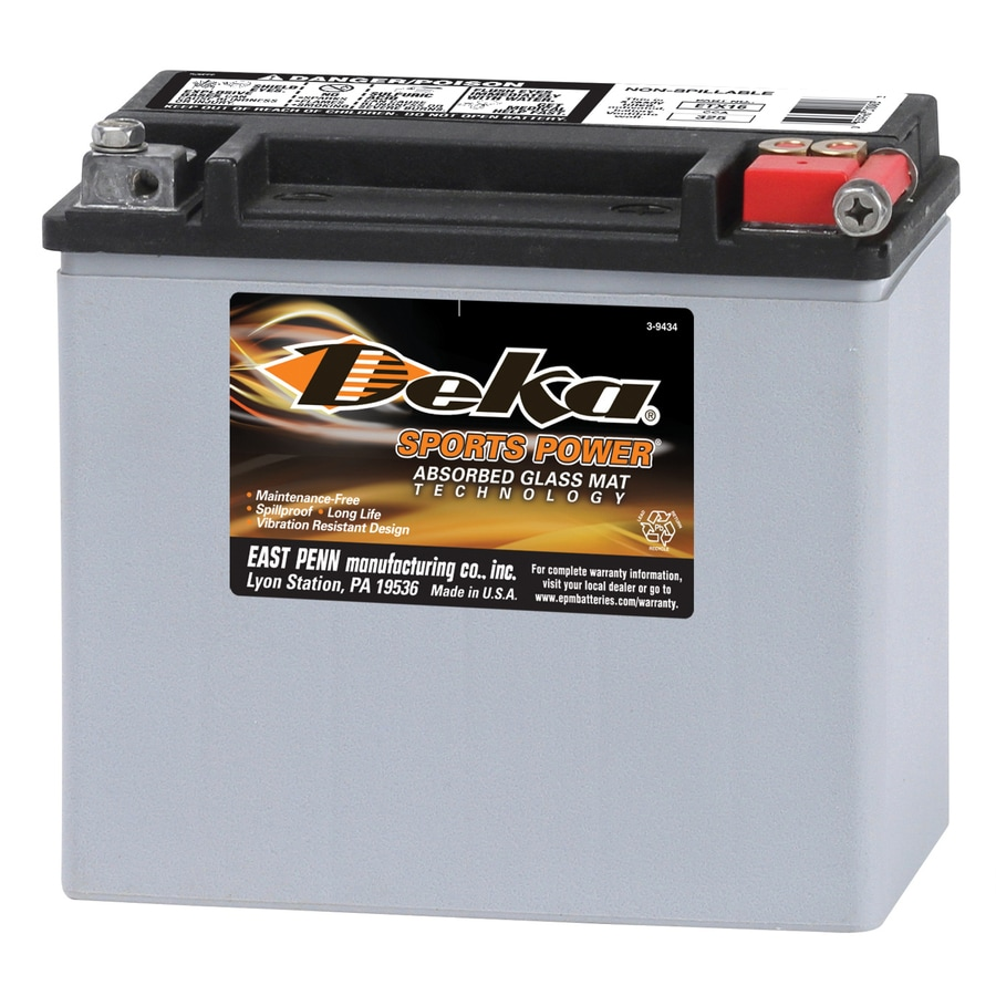 deka 12 volt motorcycle battery at lowes